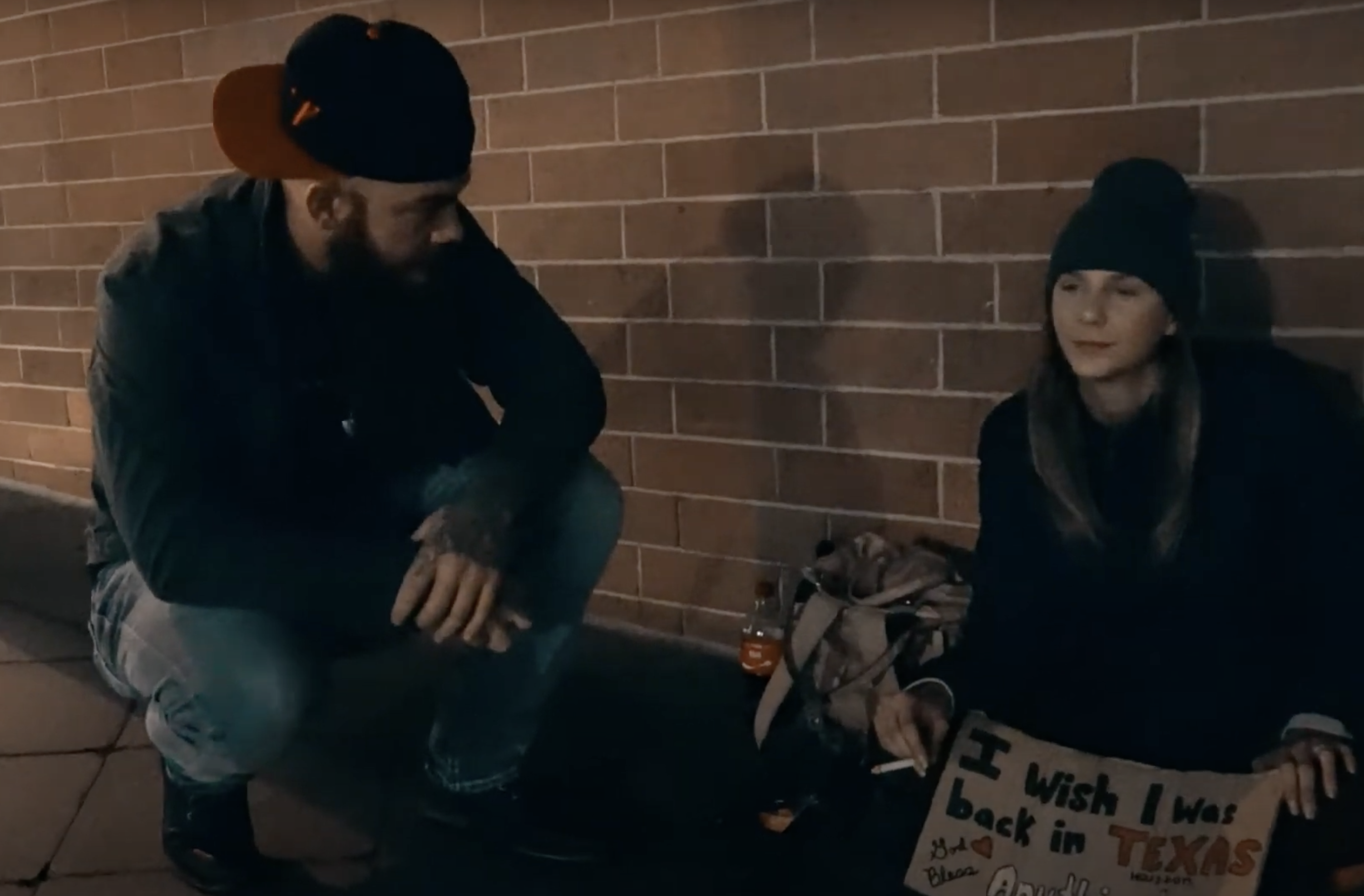 Adam-Talking-To-Homeless-Woman